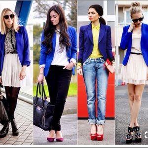 Pendleton  Virgin Wool Royal Blue Blazer Size 4P